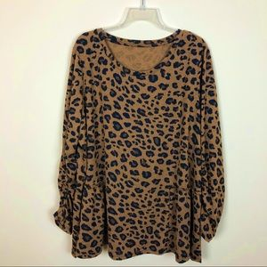 🌟NEW ARRIVAL LEOPARD OVERSIZED TUNIC TOP SWEATER